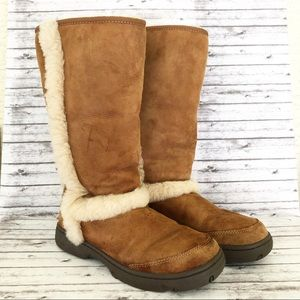 Ugg Tall Boots 5218 Size 10 Chestnut Sunburst